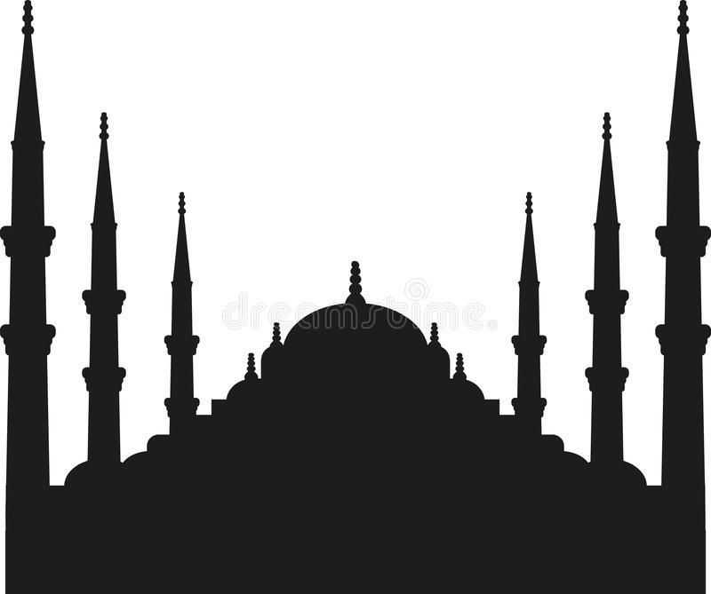 Silueta Estambul de Sultan Ahmed Mosque libre illustration