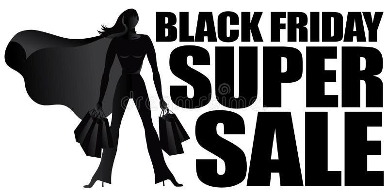 Silueta estupenda de la venta de Black Friday stock de ilustración