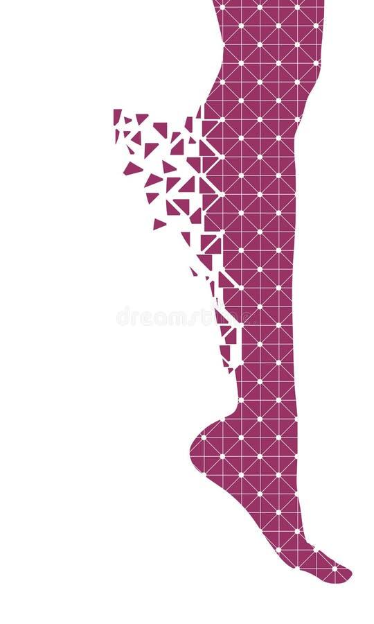 Silueta femenina de la pierna ilustración del vector