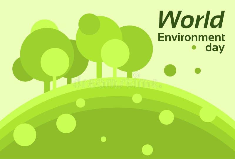 Silueta Forest Nature Landscape Tree de la protección de la tierra del día del ambiente mundial libre illustration