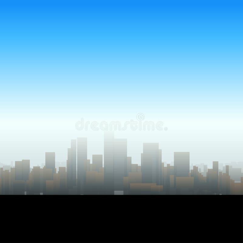 Silueta grande de la ciudad stock de ilustración