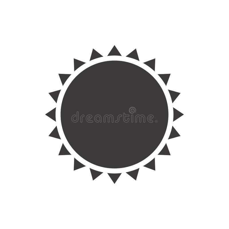 silueta gris con cierre abstracto del sol para arriba libre illustration
