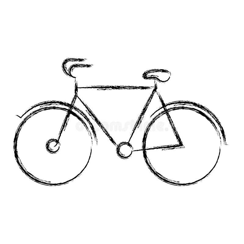 Silueta gruesa borrosa del icono turístico de la bicicleta libre illustration