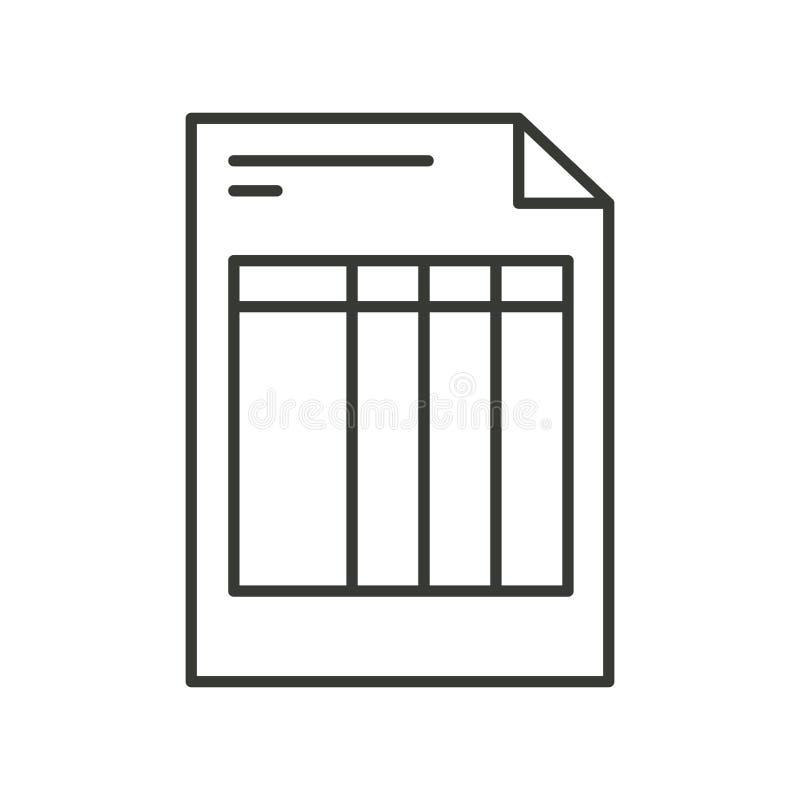 Silueta monocromática de la forma de la factura ilustración del vector