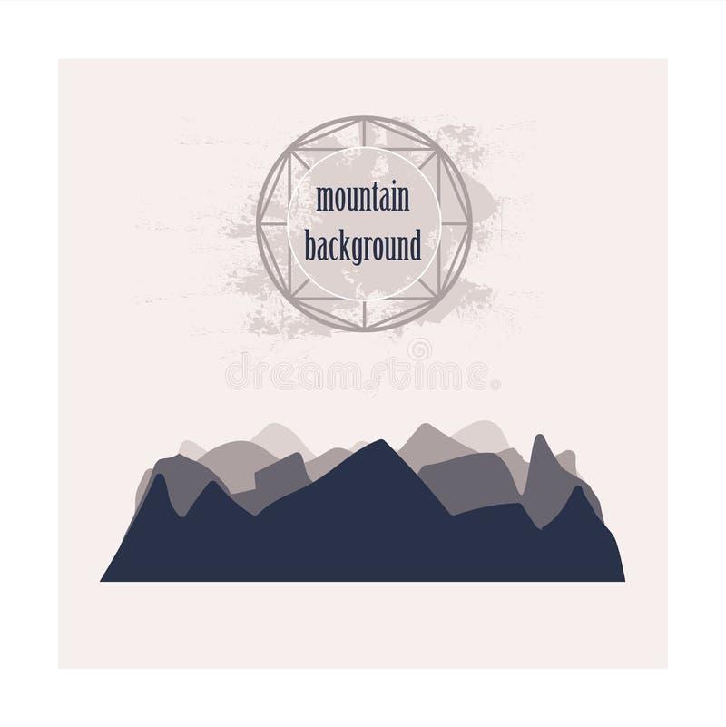 Silueta monocromática de montañas acodadas libre illustration