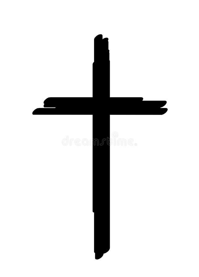 Silueta negra cruzada Silueta cruzada stock de ilustración