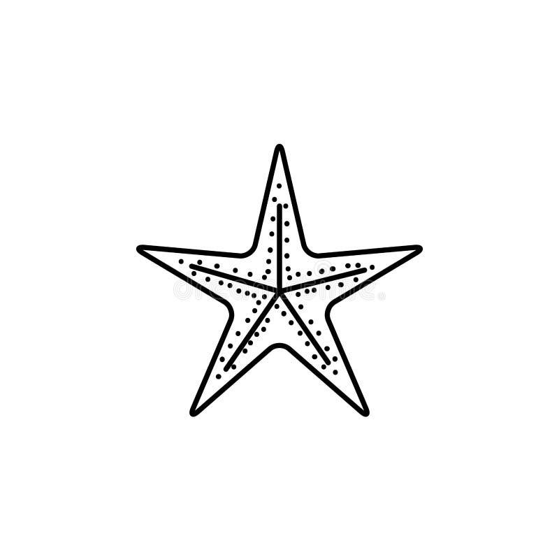 Silueta negra de las estrellas de mar del mar libre illustration