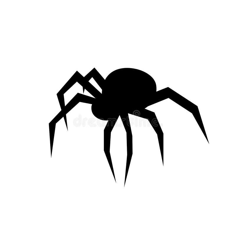 Silueta negra del vector de la araña Viuda negra Ejemplo plano del vector ilustración del vector