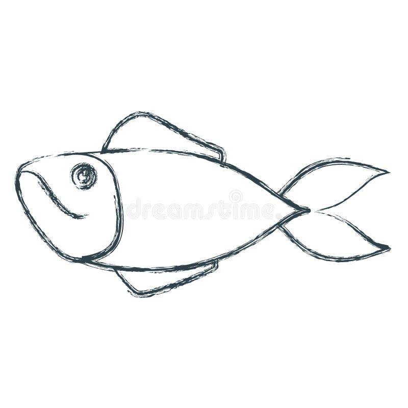 Silueta oscura azul borrosa de los pescados de la trucha libre illustration
