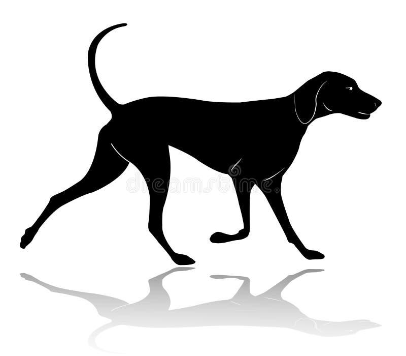 Silueta que camina del perro de caza libre illustration