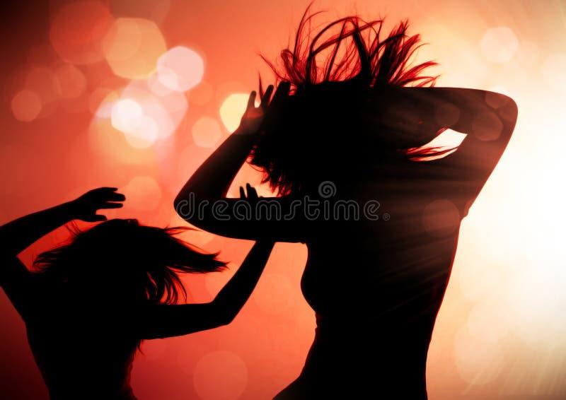 Siluetas 1 del baile fotos de archivo