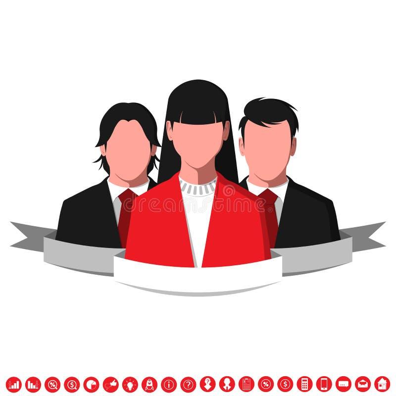 Siluetas de hombres de negocios acertados ilustración del vector