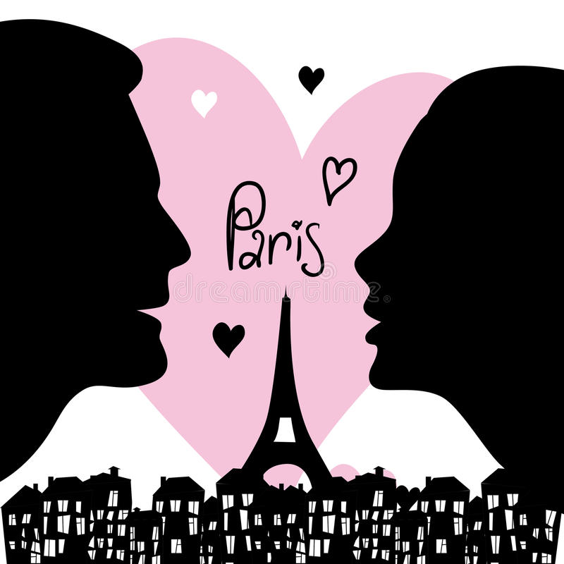 Siluetas de la ciudad de París ilustración del vector