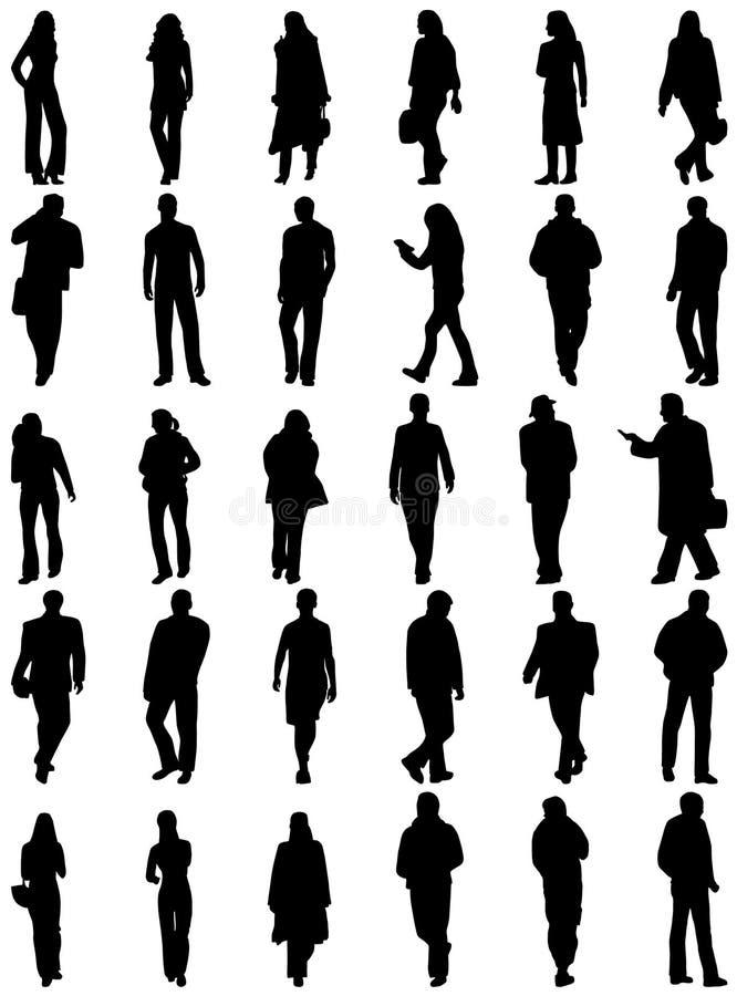 Siluetas de la gente imagen de archivo