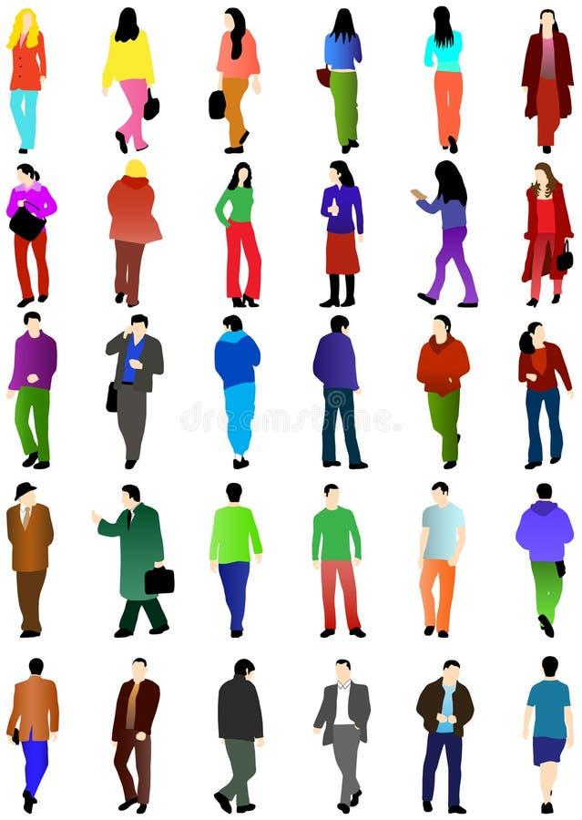 Siluetas de la gente ilustración del vector