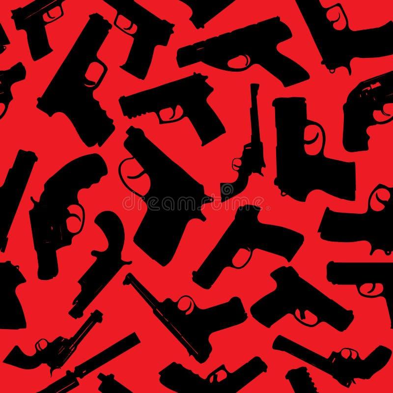 Siluetas de las armas ilustración del vector