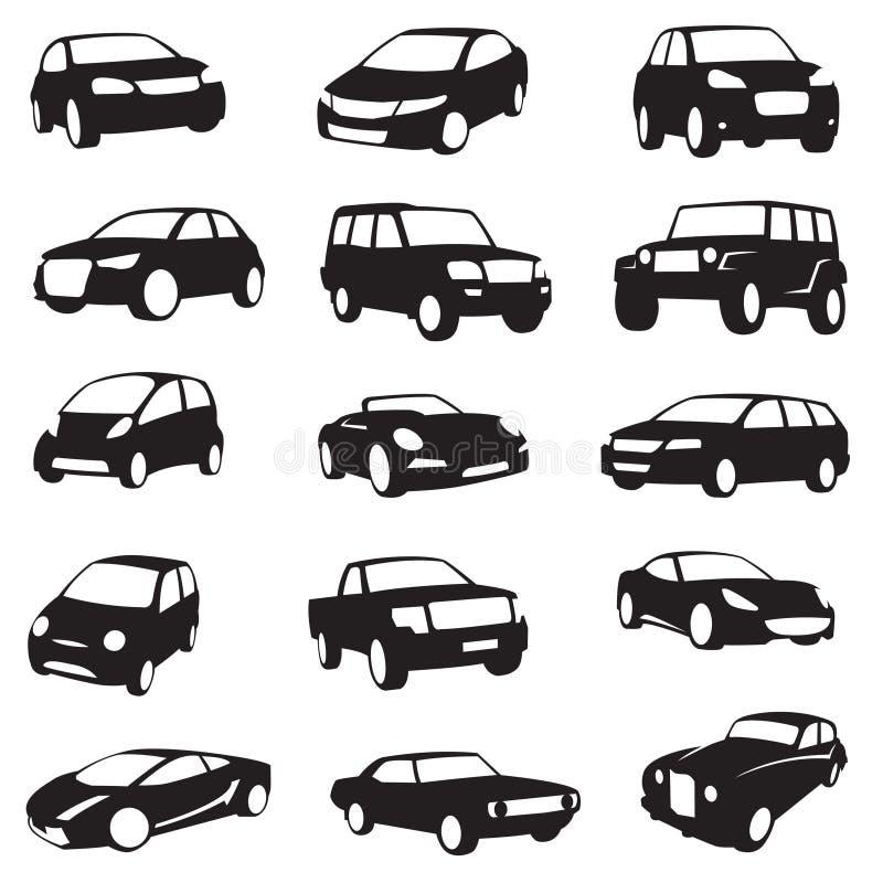 Siluetas de los coches ilustración del vector