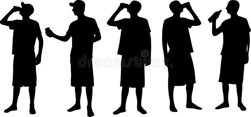 Siluetas de los hombres ilustración del vector