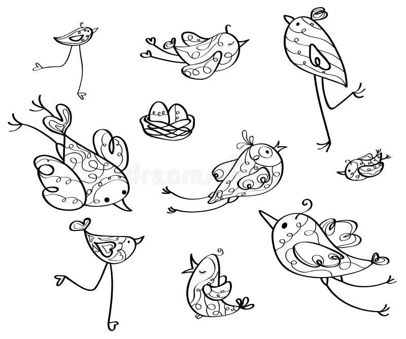 Siluetas de los pájaros del vector libre illustration