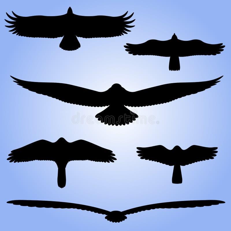 Siluetas de pájaros. libre illustration