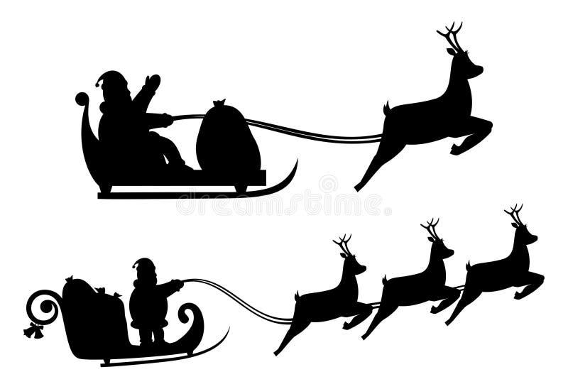 Siluetas de Santas ilustración del vector