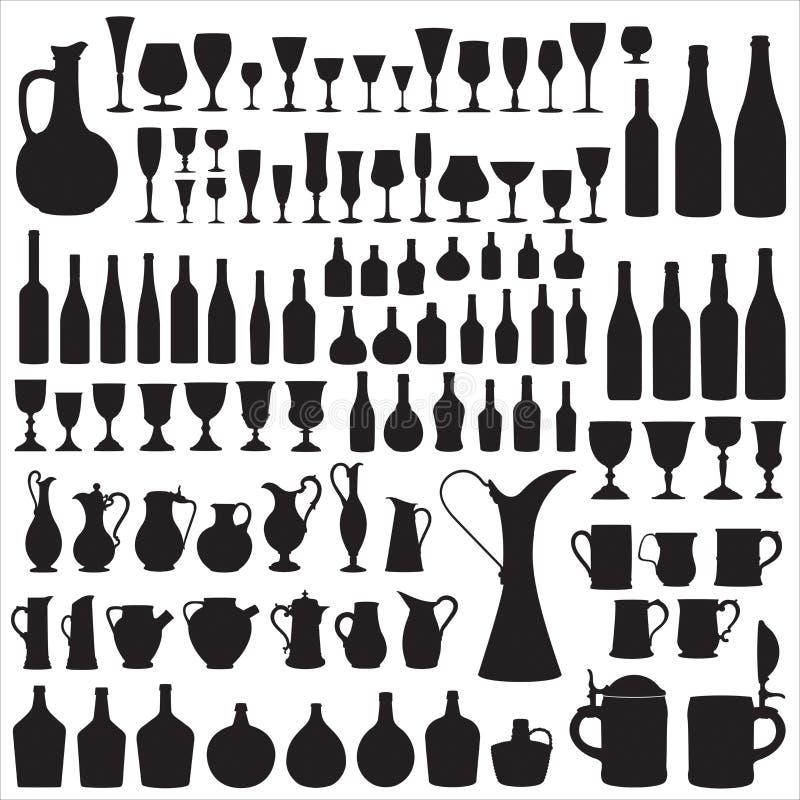 Siluetas de Wineware libre illustration