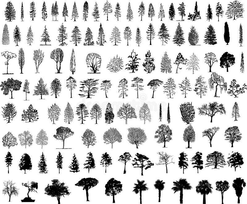 Siluetas del árbol libre illustration