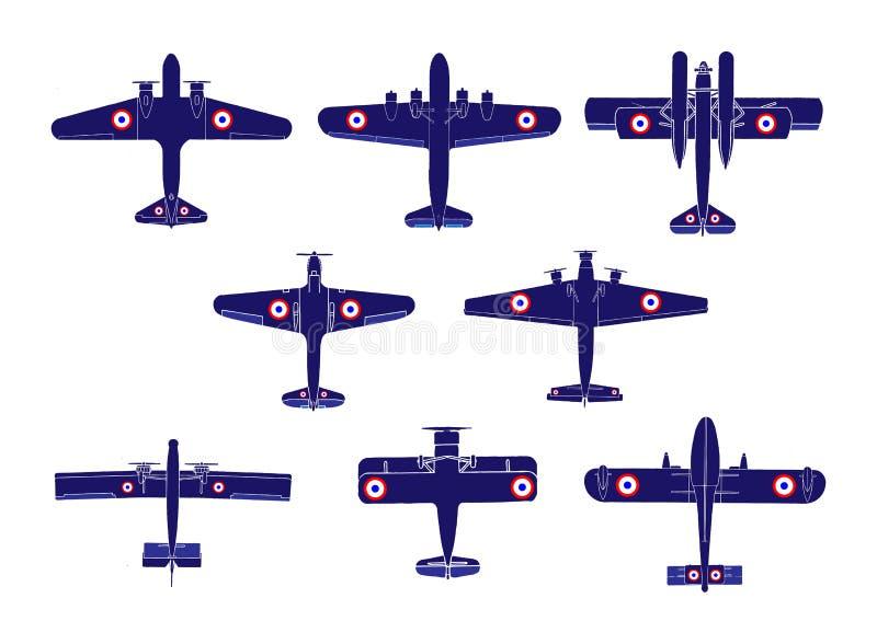 Siluetas del aeroplano libre illustration