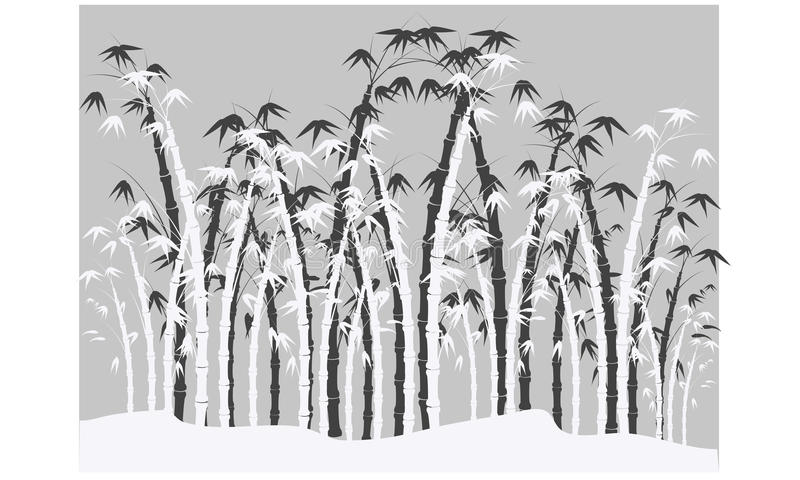 Siluetas del bambú libre illustration