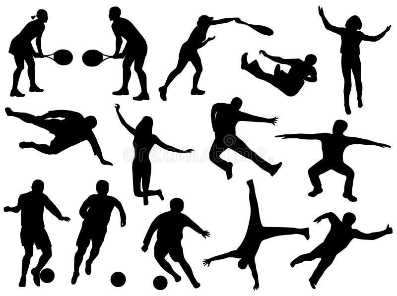 Siluetas del deporte imagen de archivo libre de regalías