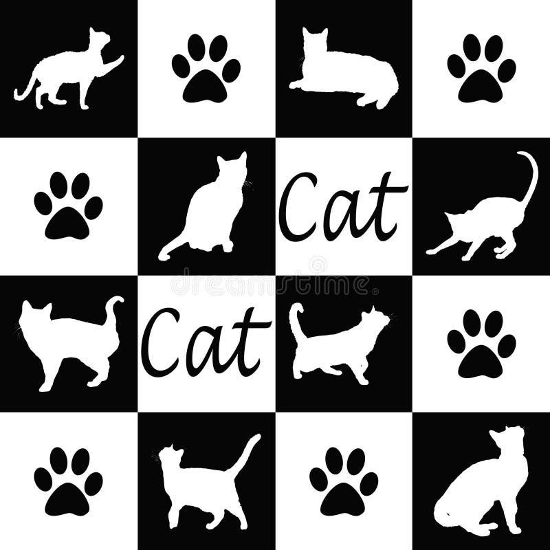 Siluetas del gato libre illustration