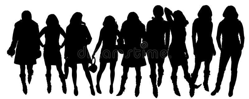 Siluetas del vector de mujeres libre illustration