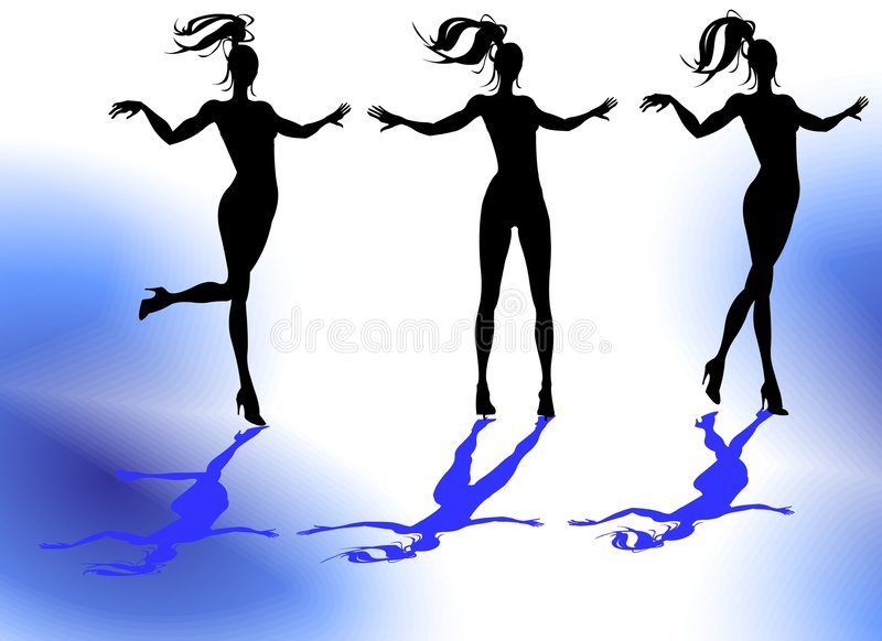 Siluetas femeninas ilustración del vector