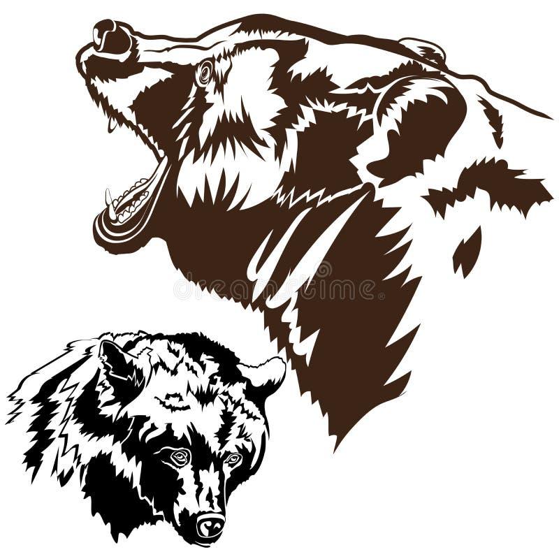 Download Siluetea osos marrones ilustración del vector. Ilustración de cubo - 100526208