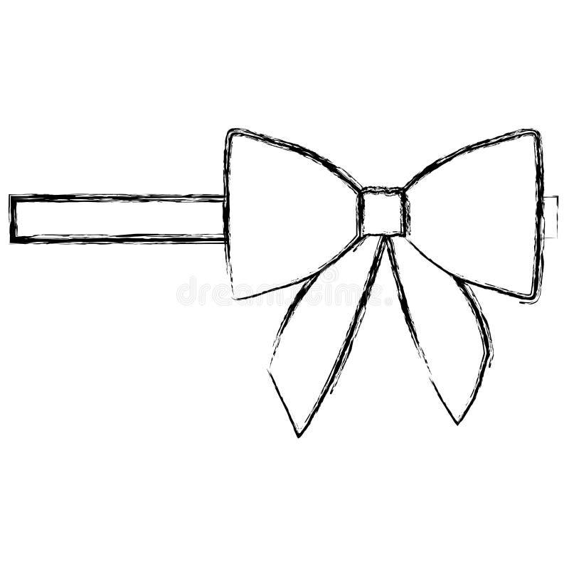 siluetee la cinta borrosa del lado derecho del satén y arquee el embalaje libre illustration