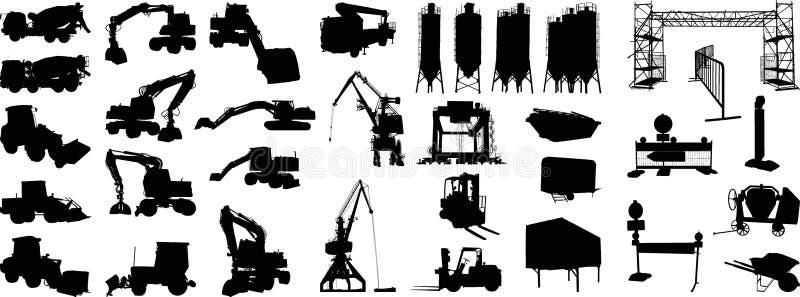 Siluetta 1 (+vector) del cantiere illustrazione di stock