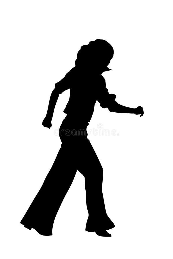 Siluetta ambulante della donna illustrazione vettoriale
