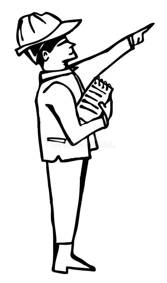 Download Siluetta attiva dell'uomo illustrazione di stock. Illustrazione di braccio - 7304196