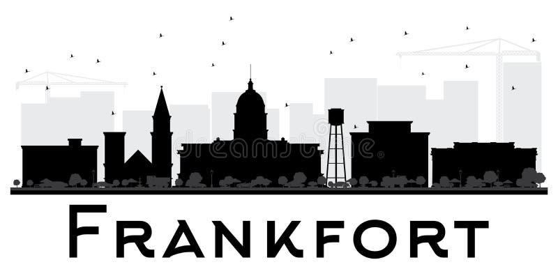 Siluetta in bianco e nero dell'orizzonte della città di frankfurter illustrazione vettoriale