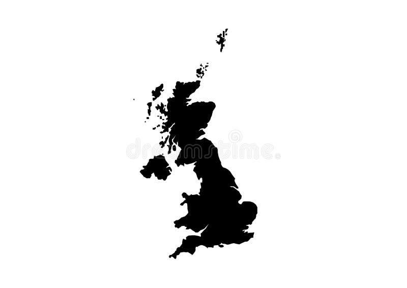 Siluetta BRITANNICA di vettore della mappa dello stato illustrazione vettoriale