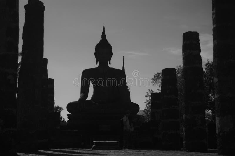Siluetta Buddha fotografia stock libera da diritti