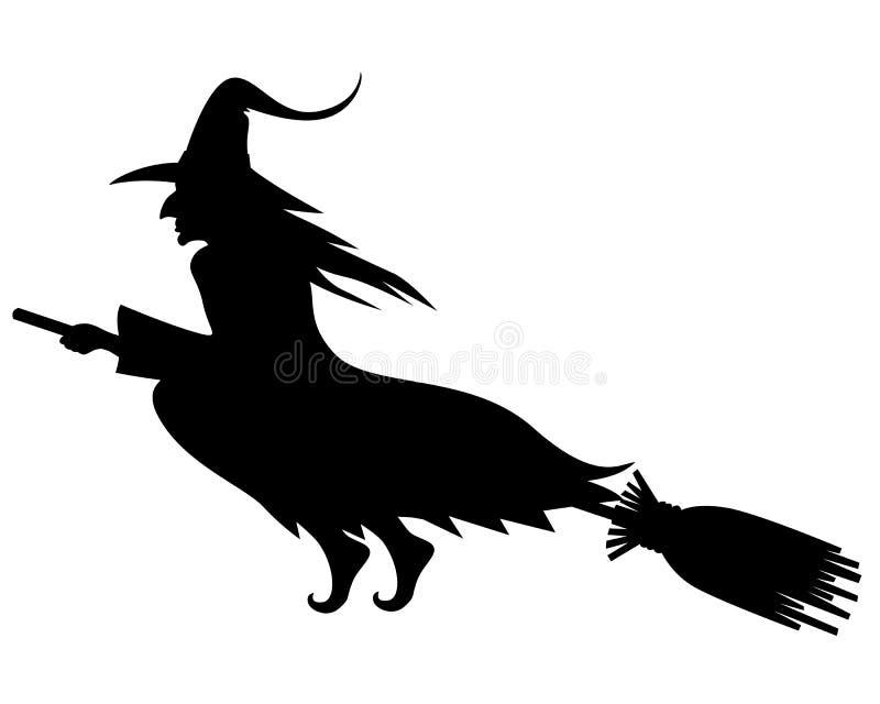 Siluetta cattiva della strega di Halloween illustrazione vettoriale