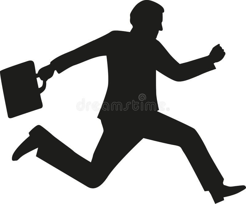 Siluetta corrente dell'uomo di affari illustrazione di stock