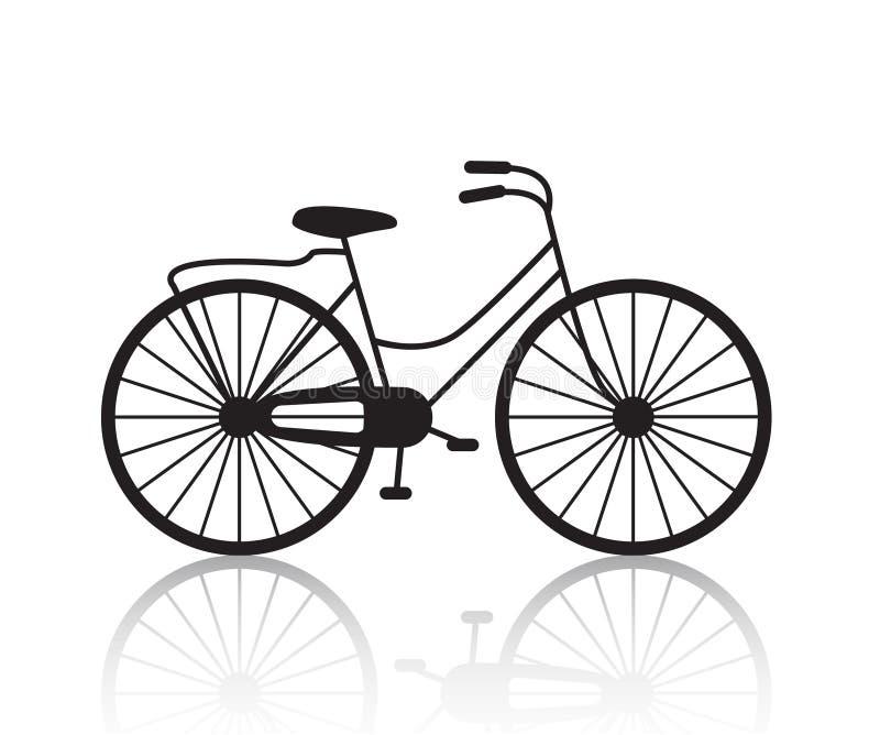 Siluetta d'annata della bicicletta di vettore retro, icona royalty illustrazione gratis