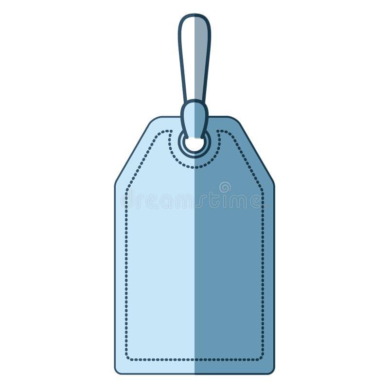 Siluetta d'ombreggiatura blu dell'etichetta del segno illustrazione di stock