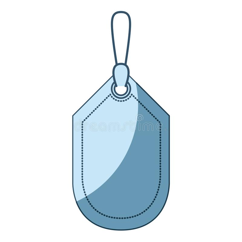 Siluetta d'ombreggiatura blu dello sconto dell'etichetta illustrazione di stock