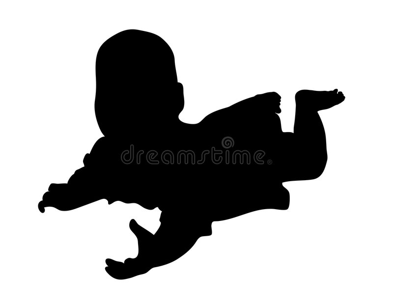 siluetta del bambino royalty illustrazione gratis
