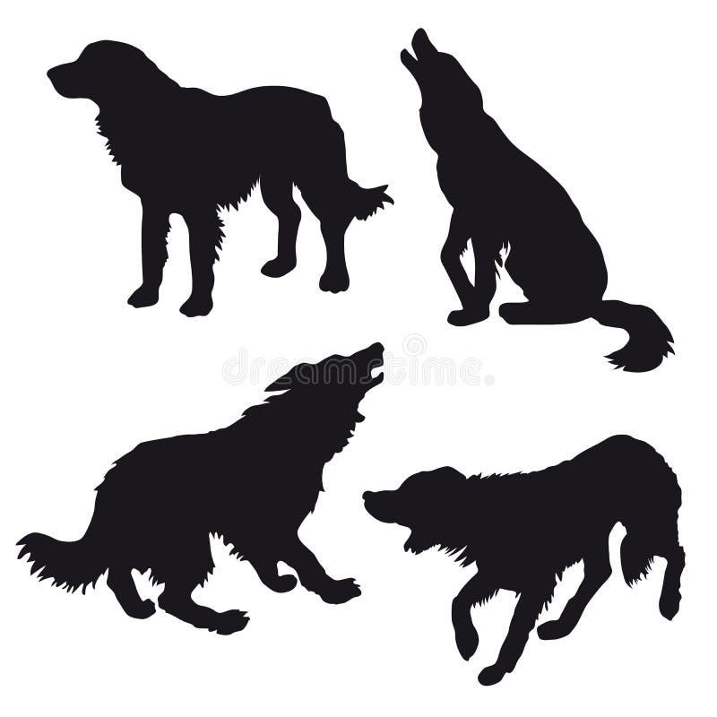 Siluetta del cane illustrazione di stock