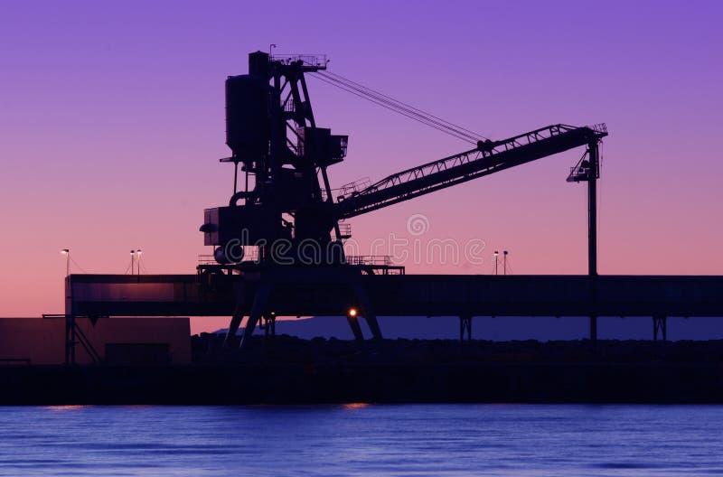 Siluetta del cantiere navale fotografia stock