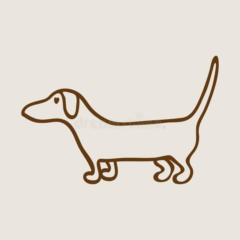 Siluetta del Dachshund illustrazione di stock